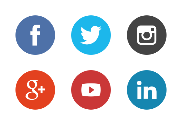 round social media icons. social media updates for february round icons d